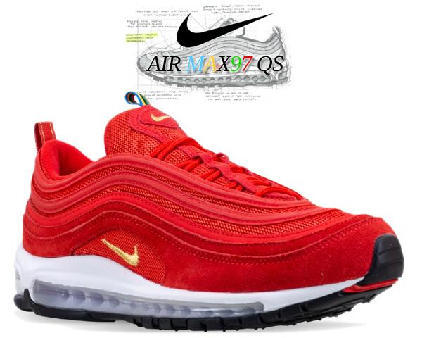 NIKE AIR MAX 97 QS challenge red/metallic gold ci3708-600 ナイキ エア マックス 97 オリンピック スニーカー AM97 五輪 チャレンジ レッド