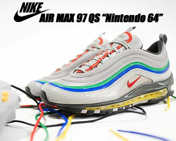 NIKE AIR MAX 97 QS Nintendo セール開催中最短即日発送 64 atmosphere grey 新作送料無料 habanero red ci5012-001 スニーカー ニンテンドー64 AM97 エア グリーン グレー ナイキ イエロー クイックストライク マックス レッド シルバー