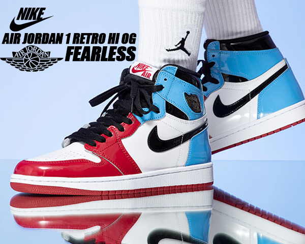 NIKE AIR JORDAN 1 RETRO HI OG FEARLESS white/black-university blue ck5666-100 ナイキ エアジョーダン 1 ハイ OG AJ1 フィアレス スニーカー BULLS UNC