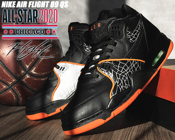 NIKE AIR FLIGHT 89 QS NBA ASG 2020 black/orange blaze ct8478-001 ナイキ エア フライト 89 クイックストライク スニーカー オールスター ブラック