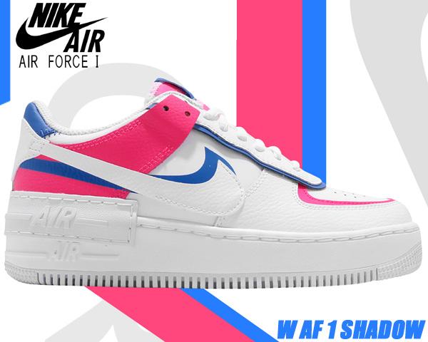 NIKE WMNS AF1 SHADOW white/white-wht-hyper pink cu3012-111 ナイキ ウィメンズ エアフォース1 シャドウ スニーカー レディース エア フォース ワン ガールズ AIR FORCE 1