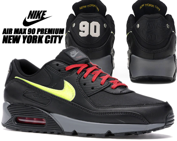 NIKE AIR MAX 90 PREMIUM NYC CITY black/speed yellow-smoke grey cw1408-001 ナイキ エアマックス 90 プレミアム スニーカー ニューヨーク 消防士 FDNY NYC 30周年