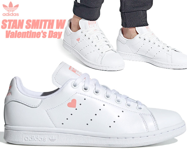 adidas STAN SMITH W V-DAY FTWWHT/FTWWHT/GLOPNK fw6227 アディダス スタンスミス ウィメンズ バレンタインデー レディース ガールズ スニーカー ホワイト ピンク ハート