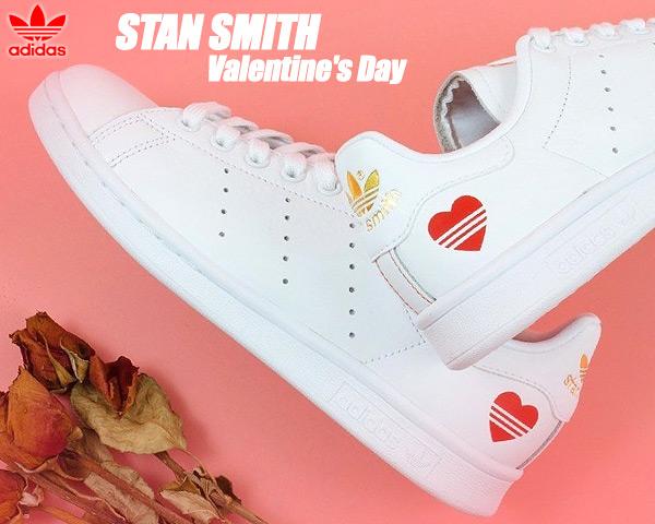 adidas STAN SMITH V-DAY FTWWHT/FTWWHT/SCARLE fw6390 アディダス スタンスミス バレンタインデー レディース ガールズ スニーカー ホワイト レッド ハート