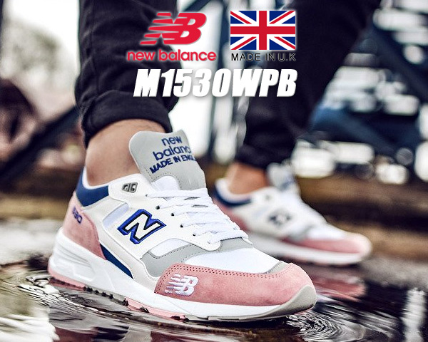 NEW BALANCE M1530WPB Made in England ニューバランス M1530 UK スニーカー NB 1500 30th Anniversary 1530 ピンク ホワイト ブルー width D