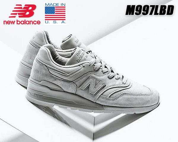 NEW BALANCE M997LBD MADE IN U.S.A. ニューバランス M997 スニーカー NB 997 GREY Dワイズ グレー
