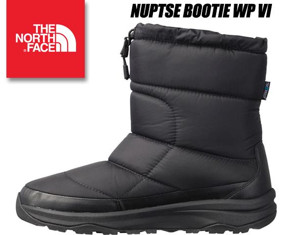 THE NORTH FACE NUPTSE BOOTIE WP VI BLACK/BLACK nf51873-k ノースフェイス ヌプシブーツ 6 撥水 ウォータープルーフ 6 ブラック 保温用防水ウィンターブーツ ユニセックス