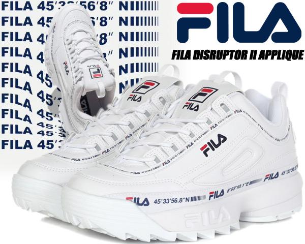 FILA DISRUPTOR II NEW TAPEY TAPE White/White/White 1gm00848-100 フィラ ディスラプター 2 ニューテイピーテープ ウィメンズ レディース スニーカー ホワイト