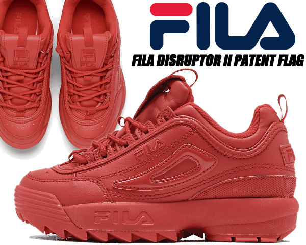 FILA DISRUPTOR II PATENT FLAG fred/fred/fred 3fm00737-600 フィラ ディスラプター 2 レッド パテント フラッグ スニーカー