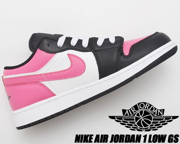 NIKE AIR JORDAN 1 LOW(GS) white/pinksicle-black 554723-106 ナイキ エアジョーダン 1 ロー ガールズ レディース スニーカー ピンク ブラック ホワイト