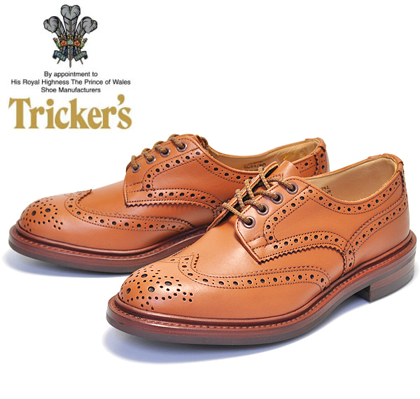 TRICKER'S M5633 69 COUNTRY BOURTON C.SHADE GORSE トリッカーズ カントリーシューズ バートン フルブローグ 紳士靴 Cシェード ゴース カーフレザー ダイナイトソール ブラウン