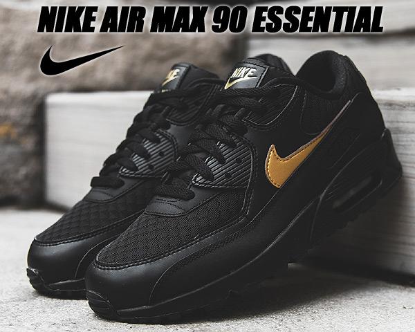NIKE AIR MAX 90 ESSENTIAL black/metallic gold av7894-001 ナイキ エアマックス 90 エッセンシャル スニーカー AM90 ブラック ゴールド