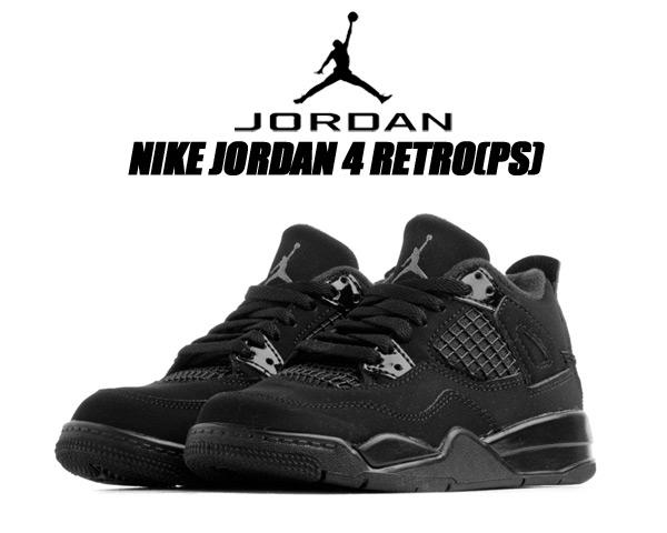 NIKE JORDAN 4 RETRO (PS) BLACK CAT black/black-lt graphite bq7669-010 ナイキ ジョーダン 4 プレスクール スニーカー AJ IV キッズ 子供靴