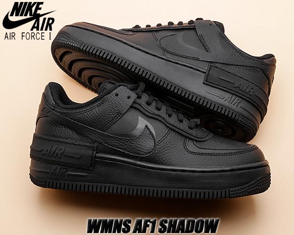 NIKE WMNS AF1 SHADOW black/black-black ci0919-001 ナイキ ウィメンズ エアフォース 1 シャドウ レディース スニーカー ブラック TRIPLE BLACK AIR FORCE