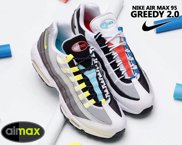 NIKE AIR MAX 95 QS GREEDY black/multi-color-gunsmoke cj0589-001 ナイキ エアマックス 95 グリーディ 2.0 スニーカー AM95