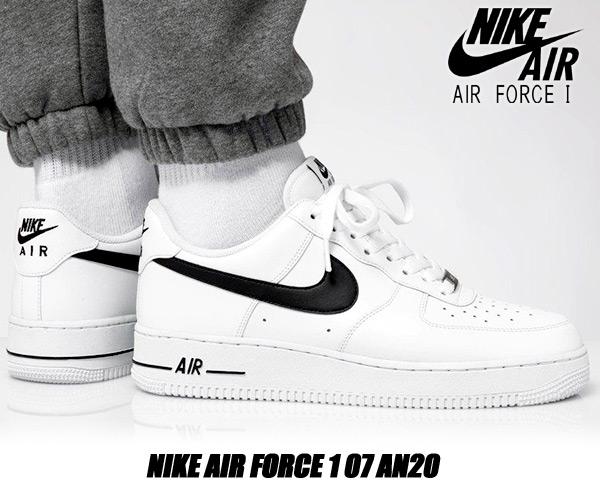 NIKE AIR FORCE 1 07 AN20 white/black cj0952-100 ナイキ エア フォース 1 07 AN20 スニーカー AF1 ホワイト ブラック