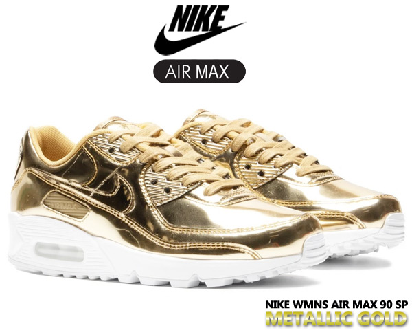 NIKE WMNS AIR MAX 90 SP METALLIC PACK metallic gold/metallic gold cq6639-700 ナイキ ウィメンズ エアマックス 90 スペシャル スニーカー AM90 メタリック ゴールド 金