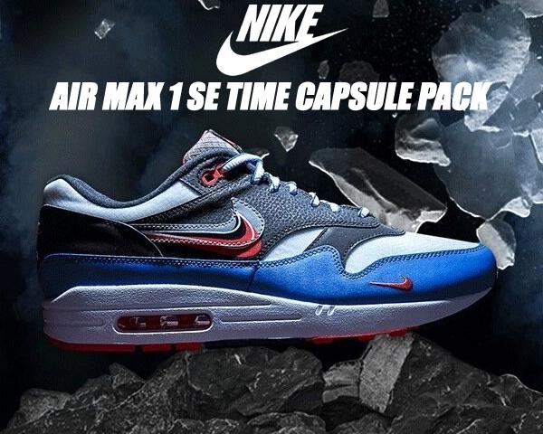 NIKE AIR MAX 1 SE TIME CAPSULE PACK black/cement grey ct1623-001 ナイキ エアマックス 1 スニーカー AM1 タイムカプセル Script Swoosh