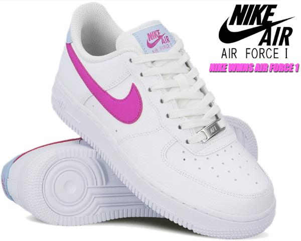 NIKE WMNS AIR FORCE 1 07 white/fire pink-hydrogen blue ct4328-101 ナイキ ウィメンズ エアフォース 1 07 レディース スニーカー ガールズ AF1 ホワイト ピンク ブルー
