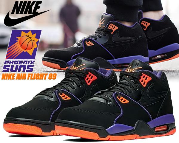NIKE AIR FLIGHT 89 Phoenix Suns blk/court purple cu4838-001 ナイキ エア フライト 89 サンズ スニーカー フェニックス サンズ ブラック パープル オレンジ