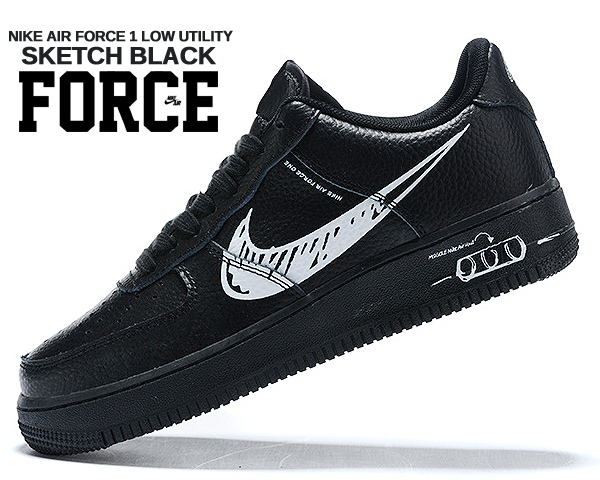 black and white air force 1 lv8