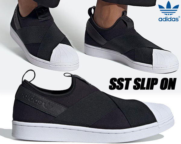 adidas SUPER STAR SLIP ON CBLACK/CBLACK