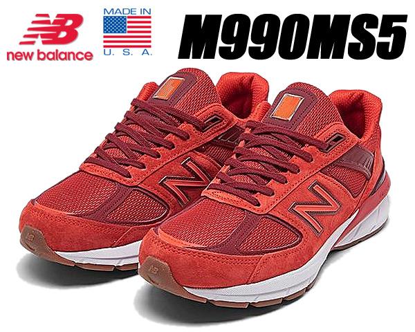 NEW BALANCE M990MS5 MADE IN U.S.A. Width:D ニューバランス M990 V5 スニーカー ワイズ D レッド MOLTEN LAVA