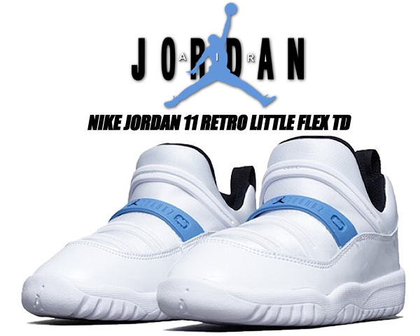 NIKE JORDAN 上品 11 RETRO LITTLE FLEX TD white 特価キャンペーン black-legend blue bq7102-114 トドラー スニーカー レトロ フレックス ナイキ 子供靴 XI ジョーダン AJ リトル ホワイト
