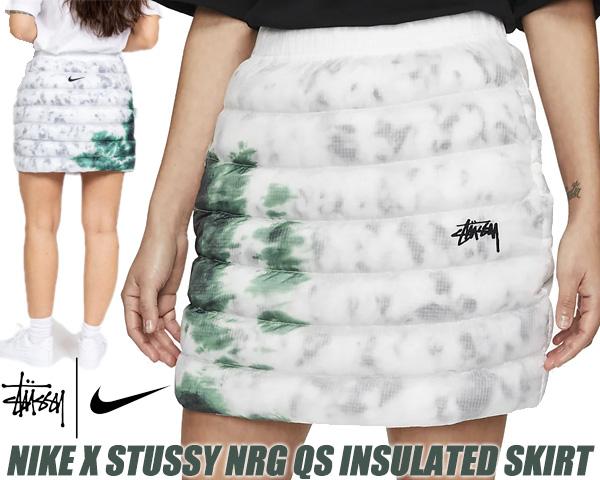 NIKE X STUSSY 直営店 NRG QS INSULATED SKIRT white gorge Green 倉庫 ゴージグリーン ダウン スカート ホワイト インシュレーテッド dc1088-100 × アウトドア ナイキ ステューシー