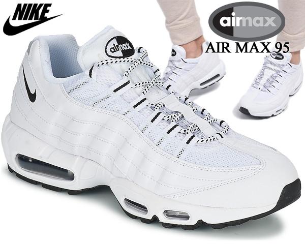 NIKE AIR MAX 95 WHITE/BLACK-BLACK 609048-109 ナイキ エアマックス 95 スニーカー ホワイト ブラック 白 AIRMAX