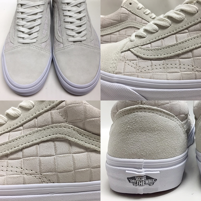 Vans Old Skool Suède Blanc Checkerboard 80Cbq