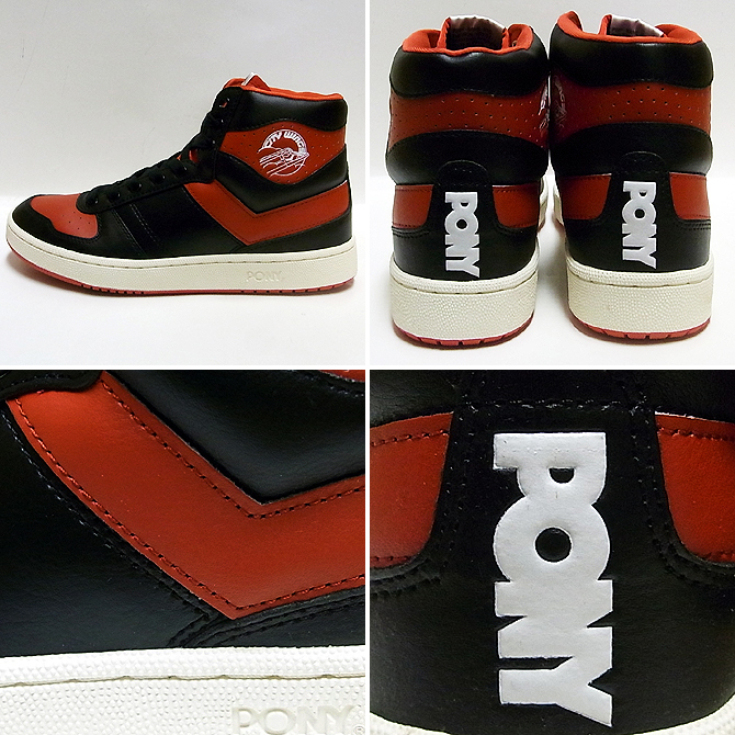 PONY CITY WINGS HI blk/red