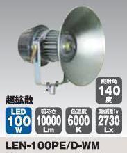 メガライトLEN-100PED-WM【日動工業2012】【送料無料】