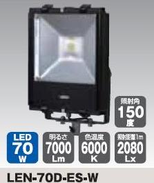 LEDエコナイター70WLEN-70D-ES-W【日動工業2012】【送料無料】