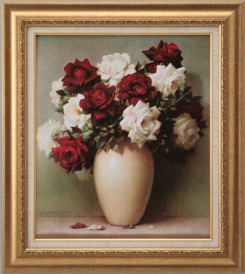 【代引不可】赤いバラ白いバラ ラブリラー【世界の名画・複製画・ポスター・レプリカ】【送料無料】【smtb-k】【w2】【FS_708-7】【H2】
