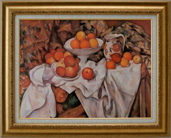 【代引不可】リンゴとオレンジ セザンヌ【世界の名画・複製画・ポスター・レプリカ】【送料無料】【smtb-k】【w2】【FS_708-7】【H2】