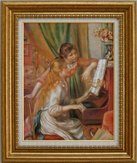 【代引不可】ピアノを弾く二人の少女 ルノワール【世界の名画・複製画・ポスター・レプリカ】【送料無料】【smtb-k】【w2】【FS_708-7】【H2】