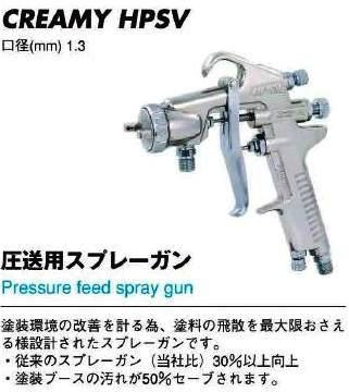 圧送型スプレーガンCREAMY-HPSV【送料無料】【FS_708-7】【H2】