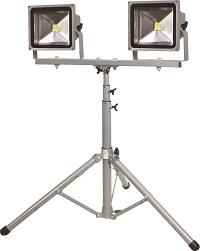 簡易防雨型LED作業灯手軽に運べてスグ使える 作業灯の普及モデル 日動工業 テレビで話題 NICHIDO いつでも送料無料 LED作業灯LPR-S50LW-3ME2灯式三脚仕様 2021 LED投光器 投光器 照明 作業灯
