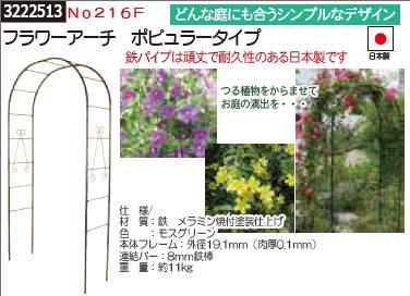 フラワーアーチ ポピュラータイプ No216F 園芸用骨組み 【REX2018】