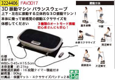 3D振動マシンバランスウェーブ FAV3017 振動ダイエット 【REX2018】