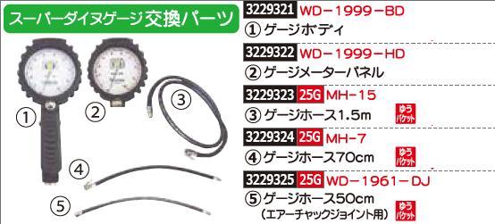 スーパーダイヌゲージ交換パーツ ゲージボディ WD-1999-BD エアーゲージ 交換パーツ【REX2018】