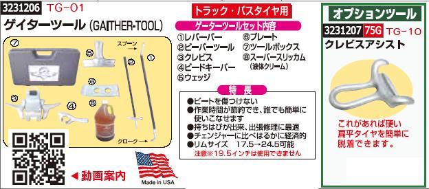 ゲイターツール TG-01 タイヤ交換工具 【REX2018】