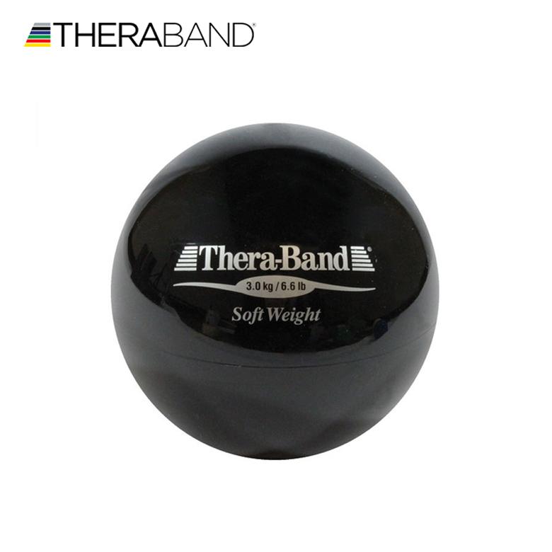 ソフトウェイト(黒,3kg) *直径:約11cm握力や指先のトレーニングに!!【ソフトウエイト/セラバンド/Thera-Band/Thera Band/リハビリ/フィットネス/ゴルフ】