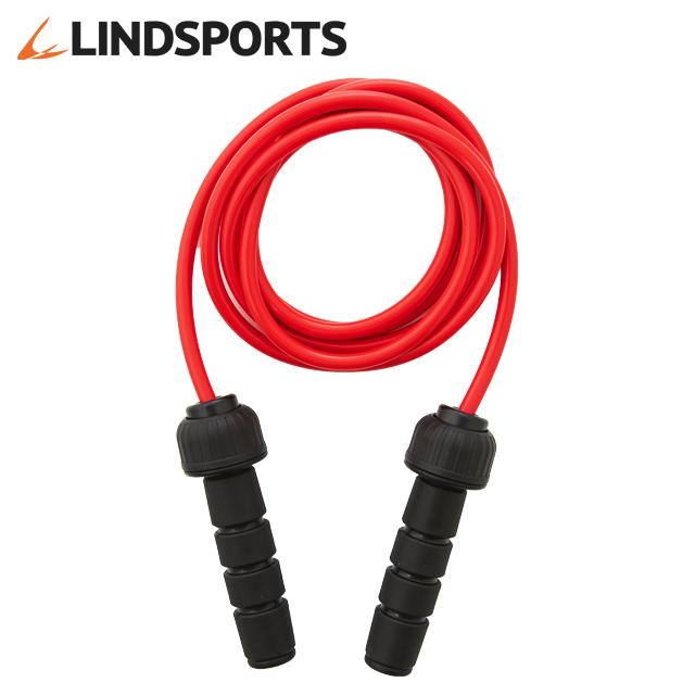ウェイトジャンプロープ 赤 約 0.5kg ジャンプロープ トレーニング用なわとび LINDSPORTS リンドスポーツ