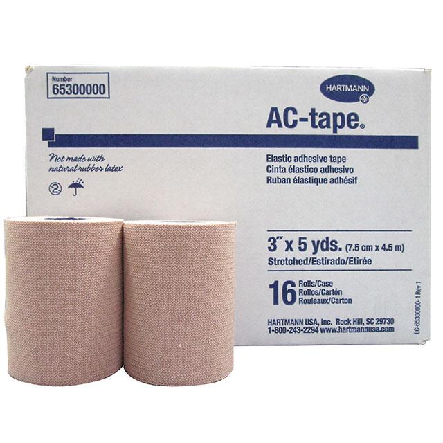 【お得な4箱セット】 ハートマン ACテープ 幅 75mm×長さ4.5m(伸長時) 16本/箱[ハード伸縮タイプ/伸縮テーピング/伸縮テープ/テーピングテープ伸縮/テーピングテープ/テーピング]