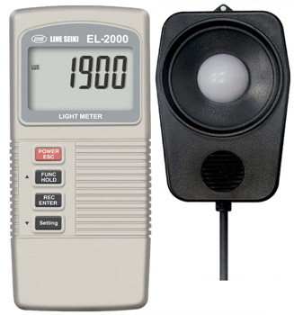 デジタル照度計+温度計 EL-2000