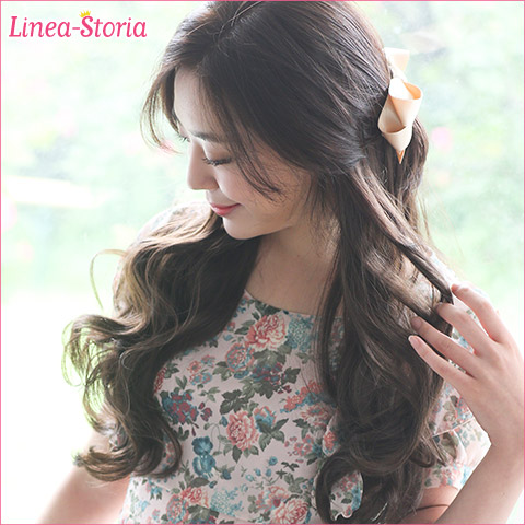 Exte-hair extensions wave meddium extensions so-called Hula extensions mesh wig wig extensions one-touch extension wedding cheap meddium リネアストア neckline dance LSRV