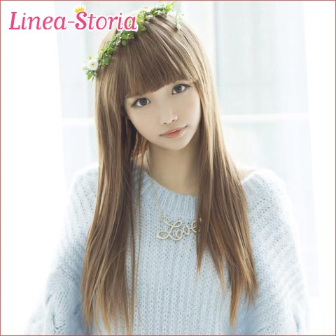 "Full wig long straight ""sunshine straight forelock ぱっつん"" wig long raven-black hair wig blond hair heat resistance wig full wig wig full lineastoria oar wig full wig LSRV corolla shortstop Bob medium"