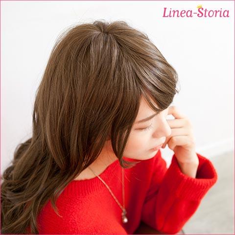 Wig Princess Line Long Wave / heat resistant wig